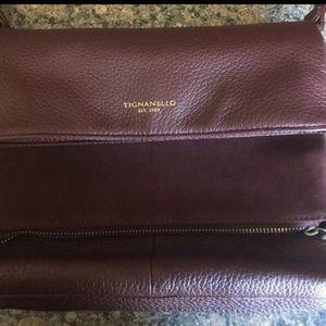 Burgundy Authentic Tignanello Pocketbook